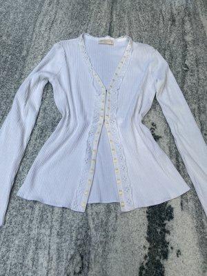 Monnalisa Club Shirt Jacke bluse neu und ungetragen weiß Häkchen