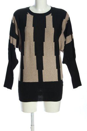 monnari Strickpullover schwarz-creme grafisches Muster Casual-Look