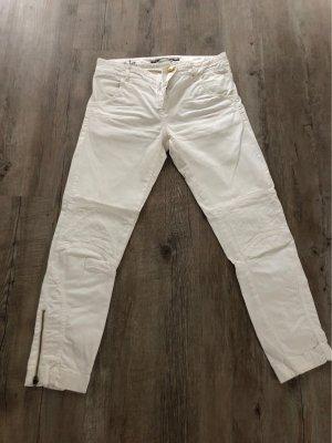 Monochrom Hose, Farbe weiß, Buntweite 25, Model 1ArielB