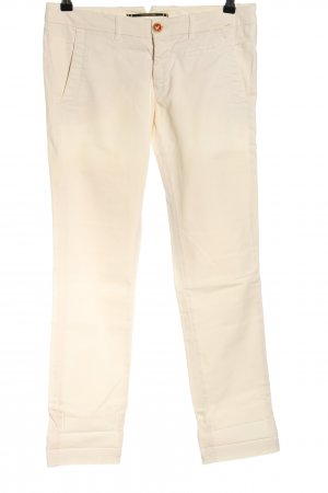 Monocrom Chinohose creme Casual-Look