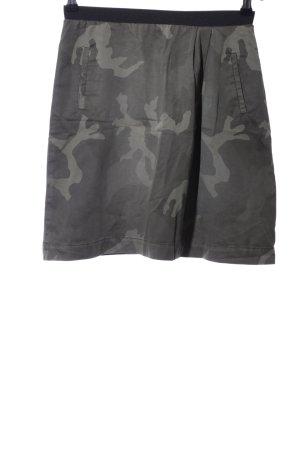 Monocrom Glockenrock khaki-hellgrau Camouflagemuster Casual-Look