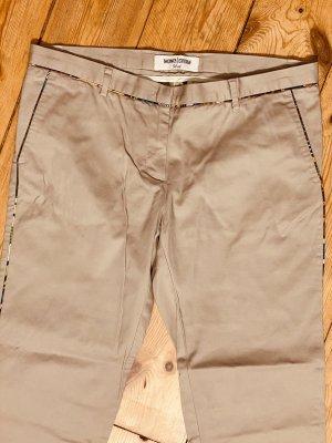 Monocrom Spodnie khaki beżowy Bawełna