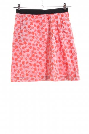 Monocrom Minirock rot-pink Allover-Druck Casual-Look