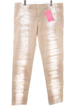 Monocrom Röhrenhose beige-creme Farbverlauf Casual-Look