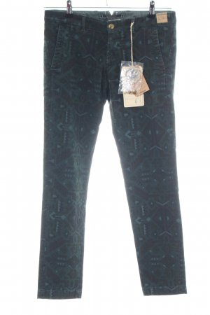 Monocrom Slim Jeans abstraktes Muster Casual-Look