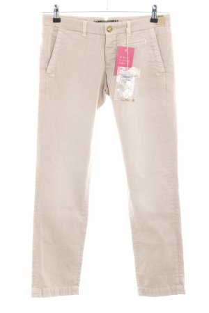 Monocrom Slim Jeans creme Casual-Look