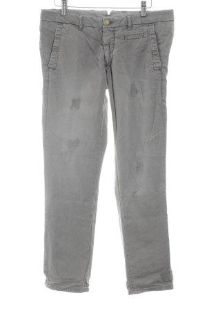 Monocrom Stoffhose grau-goldfarben Jeans-Optik