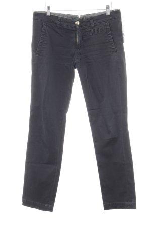 Monocrom Straight-Leg Jeans dunkelblau Street-Fashion-Look