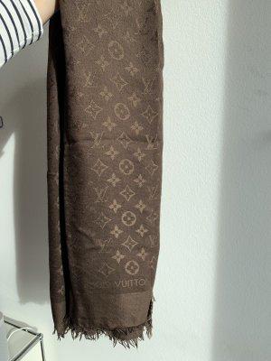 Louis Vuitton Bufanda de seda marrón-marrón claro