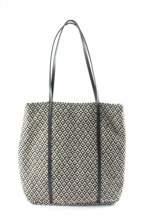Monoprix Femme Canvas Bag white-black graphic pattern casual look