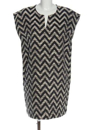 Monoprix Femme Sukienka tunika jasnoszary-czarny Na całej powierzchni