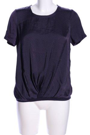 Monoprix Femme Blusentop blau Punktemuster Casual-Look