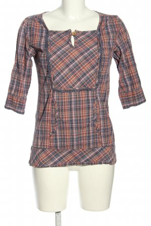 Monrow Slip-over Blouse check pattern casual look