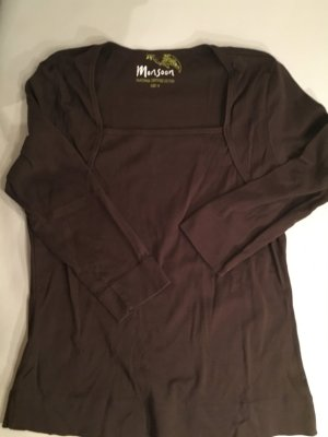MONSOON Basic Shirt, dunkelbraun, 3/4 Arm, Gr. 42, NEU und ungetragen
