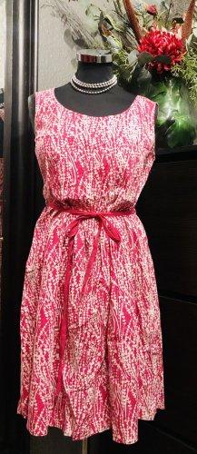 Monsoon Summer Dress white-raspberry-red
