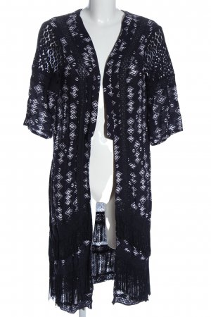 Monsoon Cardigan black-white graphic pattern casual look