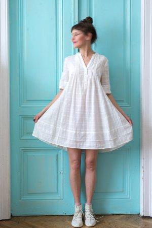 Monsoon Babydoll Dress white-natural white cotton