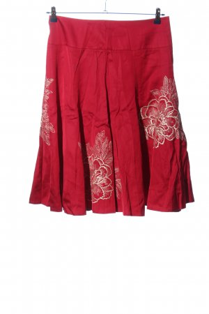 Monsoon Midi Skirt red-white flower pattern casual look