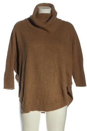 Monsoon Maglione dolcevita marrone puntinato stile casual