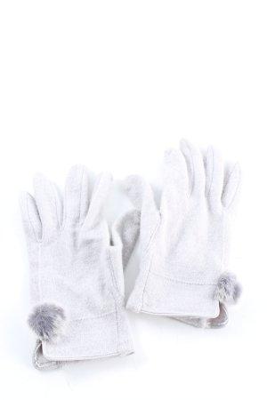 Monsoon Gants en tricot gris clair style décontracté