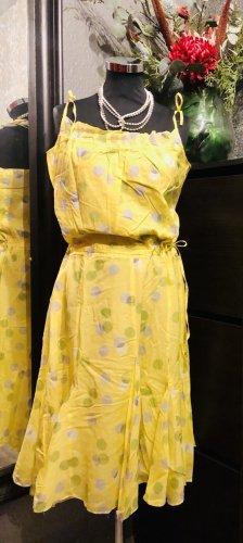Monsoon Summer Dress yellow-grey