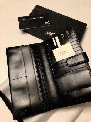 Mont Blanc Reiseetui schwarz Brieftasche Kartenetui neu OVP Kalbsleder
