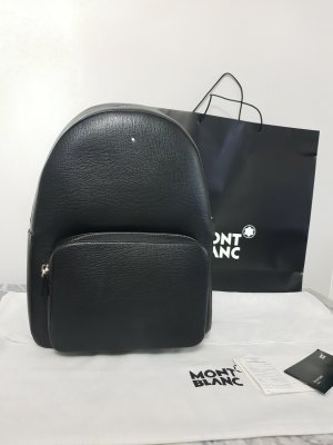 Montblanc Backpack Trolley black-silver-colored