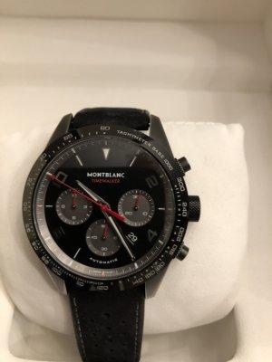 Montblanc Horloge met lederen riempje zwart