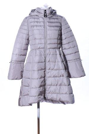 Monte Cervino Piumino lungo grigio chiaro motivo trapuntato stile casual