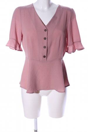 Monteau Los Angeles Kurzarm-Bluse pink Business-Look