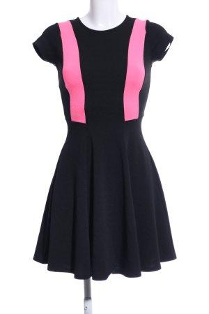 Monteau Los Angeles Stretchkleid schwarz-pink Elegant