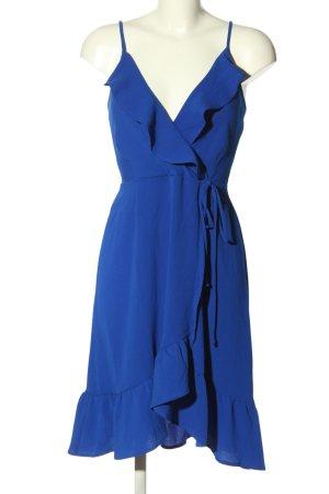 Monteau Vestido estilo flounce azul elegante