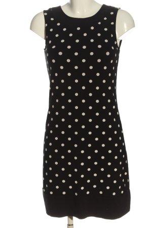 Montego A-Linien Kleid schwarz-weiß Allover-Druck Casual-Look
