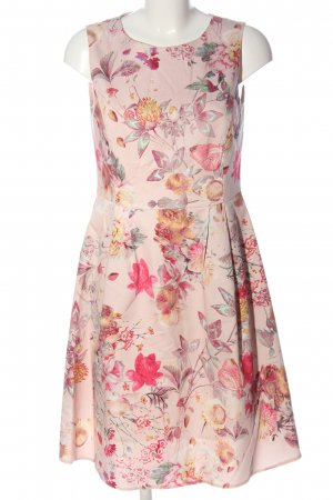 Montego A-Linien Kleid pink-rot Allover-Druck Elegant