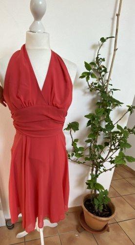 Montego Abendkleid Brautjungfer Koralle Rot Pink