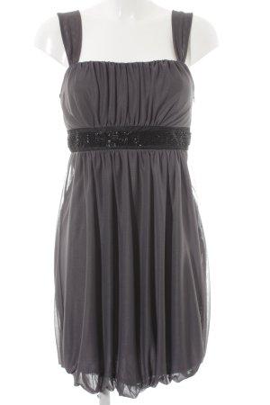 Montego Abendkleid grau-schwarz Elegant