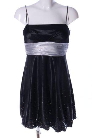 Montego Ballkleid schwarz-weiß Punktemuster Elegant