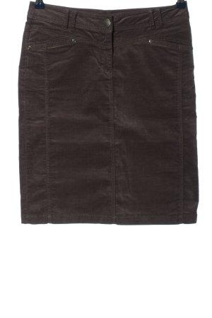 Montego Falda de tubo marrón estilo «business»