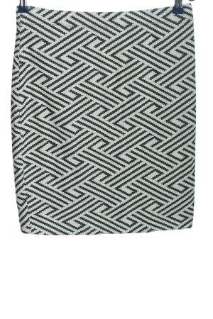 Montego Falda de tubo negro-blanco estampado repetido sobre toda la superficie
