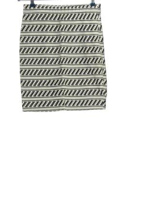 Montego Falda de tubo blanco-negro estampado gráfico look casual