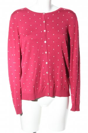 Montego Cardigan pink-weiß Allover-Druck Casual-Look
