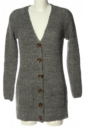 Montego Cardigan light grey cable stitch casual look
