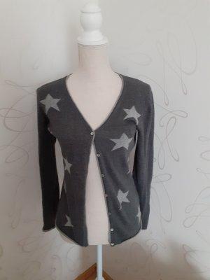Montego Cardigan grau mit Sternen gr. S
