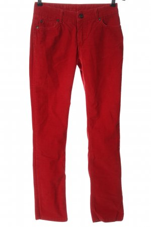 Montego Corduroy Trousers red casual look