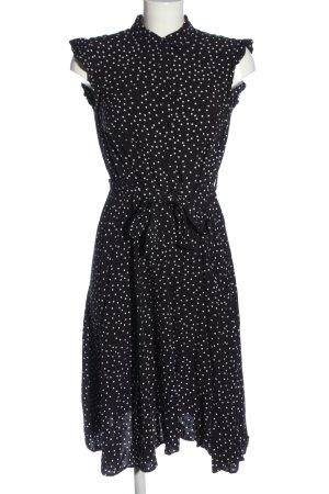Montego Empirekleid schwarz-weiß Punktemuster Casual-Look