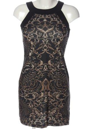 Montego Etuikleid braun-wollweiß abstraktes Muster Elegant