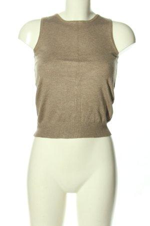 Montego Sweter bez rękawów z cienkiej dzianiny w kolorze białej wełny