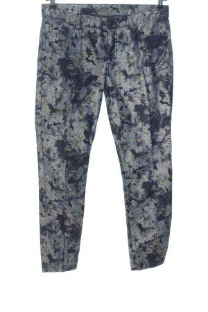 Montego Five-Pocket-Hose blau-hellgrau Allover-Druck Casual-Look