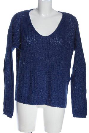 Montego Häkelpullover blau Casual-Look