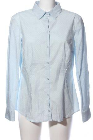 Montego Hemd-Bluse blau-weiß Allover-Druck Business-Look
